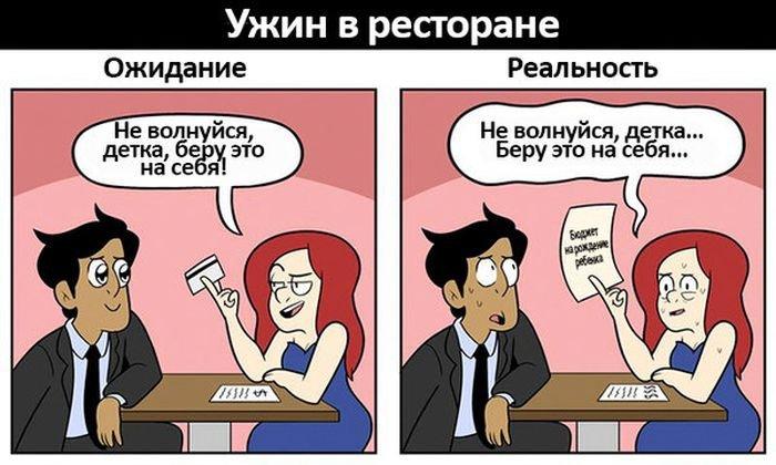 Романтический вечер: ожидание и реальность