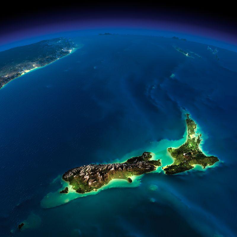 Земля в ночное время: потрясающие фото из космоса