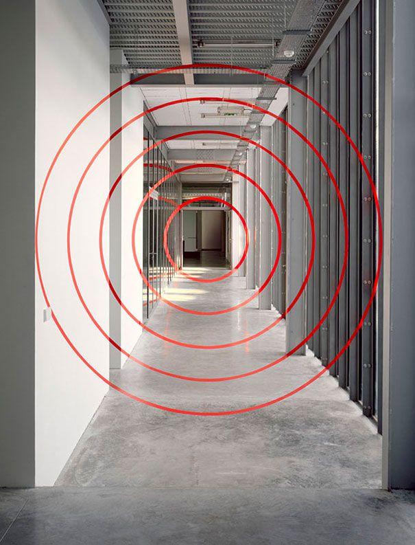 Нарисованные иллюзии, которые видны под определенным углом