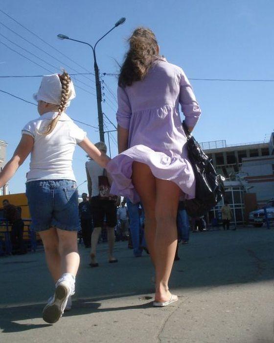 Ветер и засветы девушек