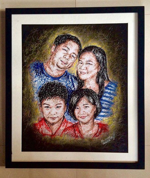 Филиппинская медсестра рисует оригинальные картины шприцами