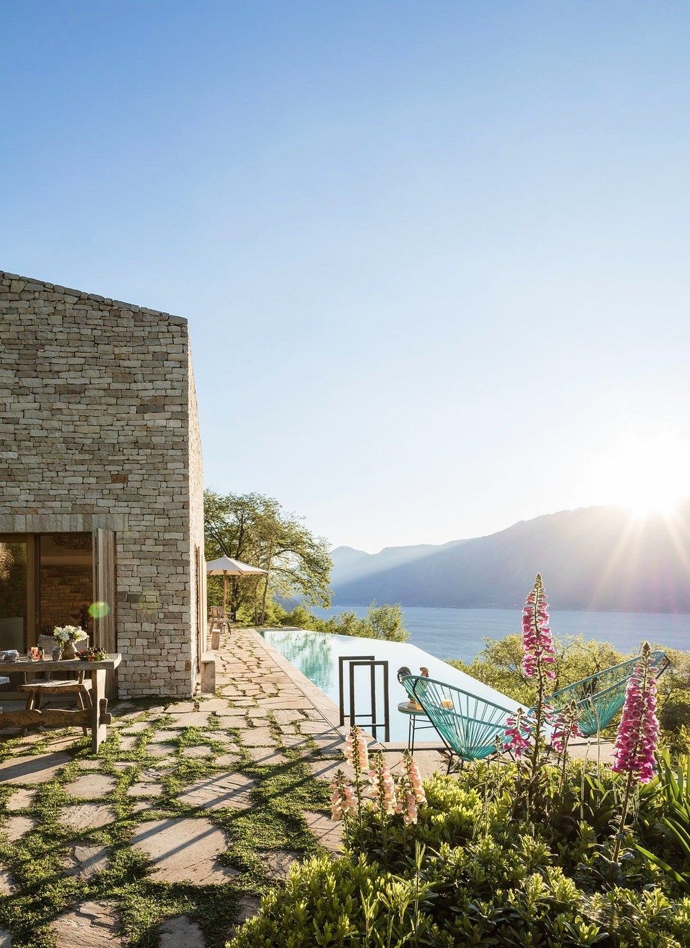 Гостевой дом на крутом склоне в Италии