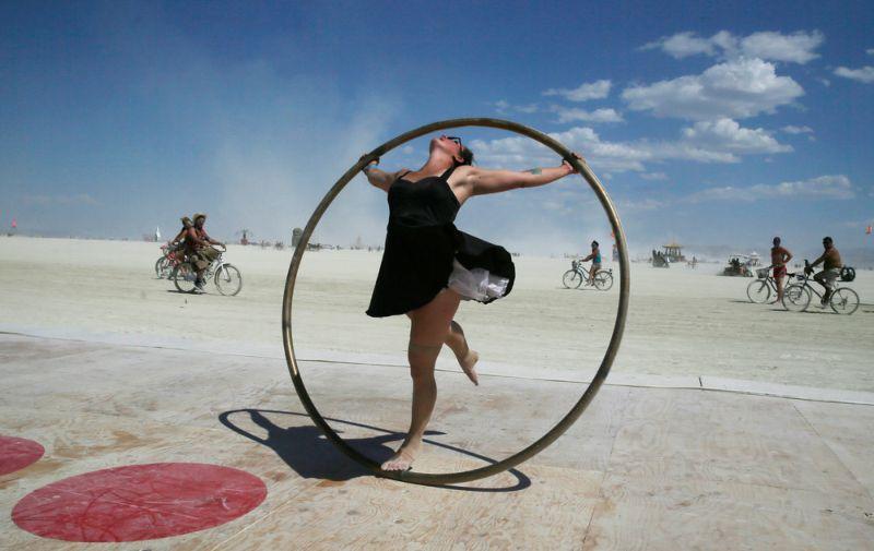 Участники фестиваля Burning Man 2017