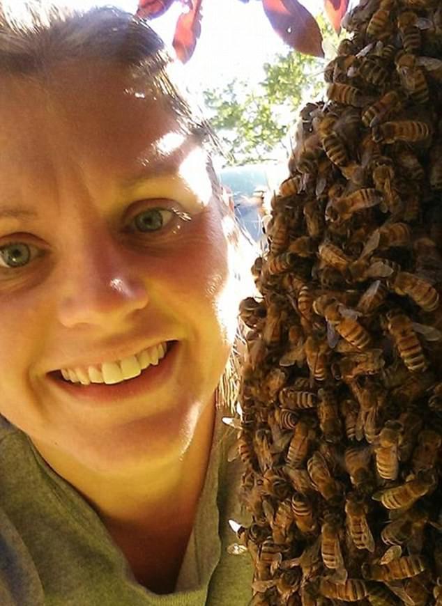 Беременная девушка устроила фотосессию с роем пчёл
