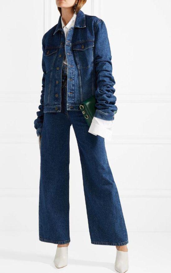 Модный джинсовый жакет