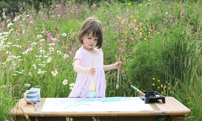 Гениальные картины от пятилетней художницы