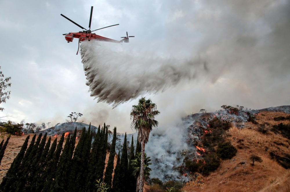 Сильнейшие природные пожары в Лос-Анджелесе
