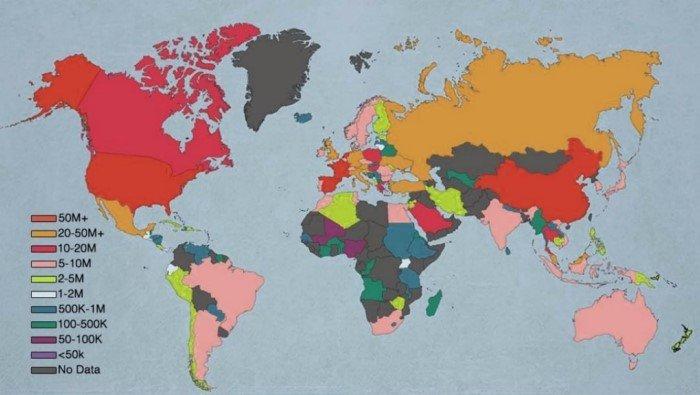 17 удивительных географических карт