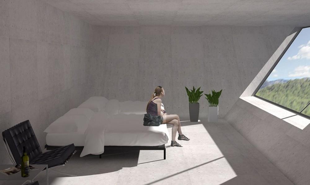 Концепт дома в виде перевернутой пирамиды