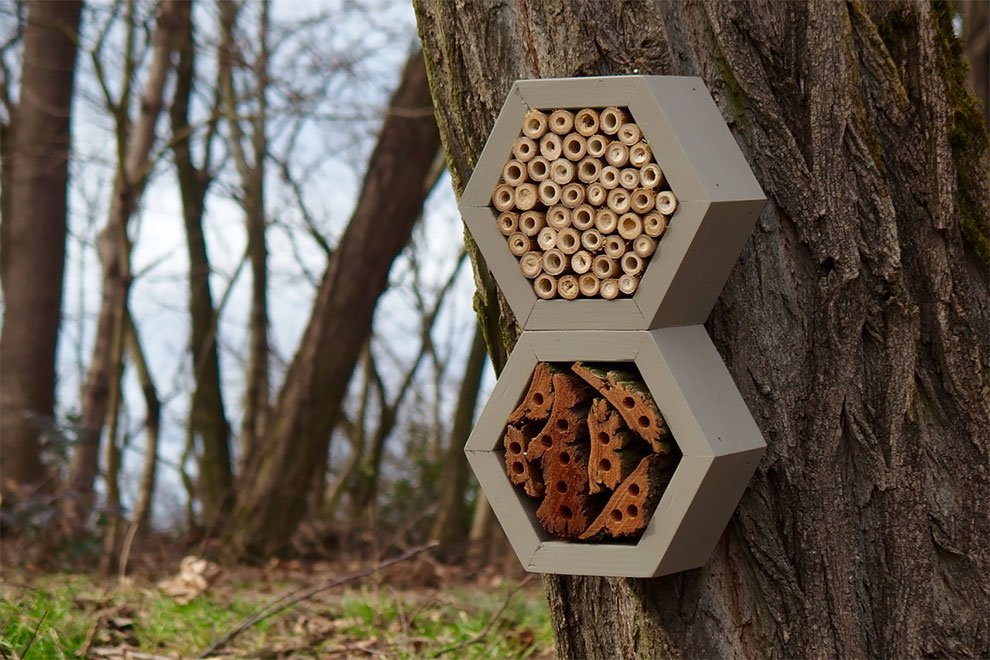 Садовые домики и отели для пчёл, бабочек и других насекомых