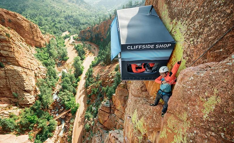 Магазин для альпинистов на высоте 100 метров