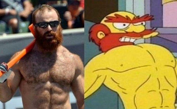Двойники героев сериала Симпсоны из реальной жизни