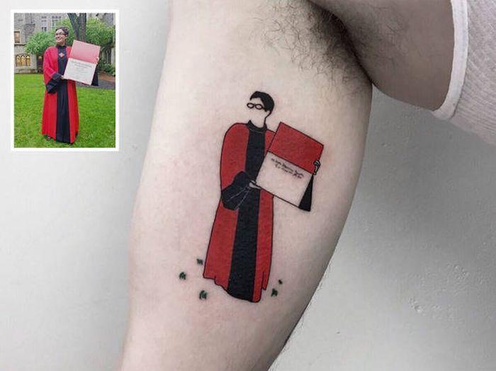Турецкий тату-мастер превращает памятные фотографии в татуировки