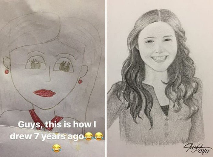 Как изменились рисунки с годами практики