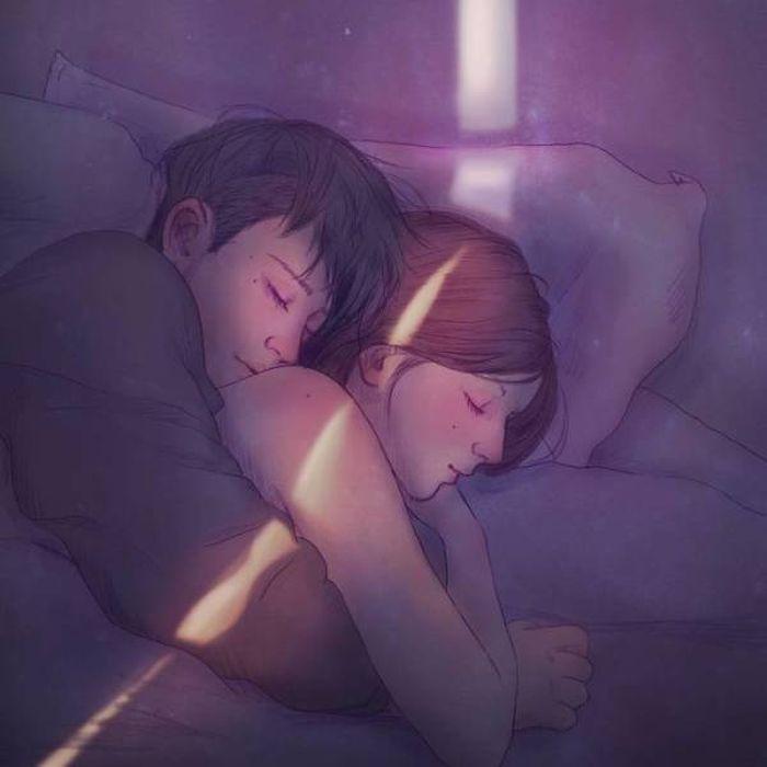 Романтические рисунки от Хичона Джонга