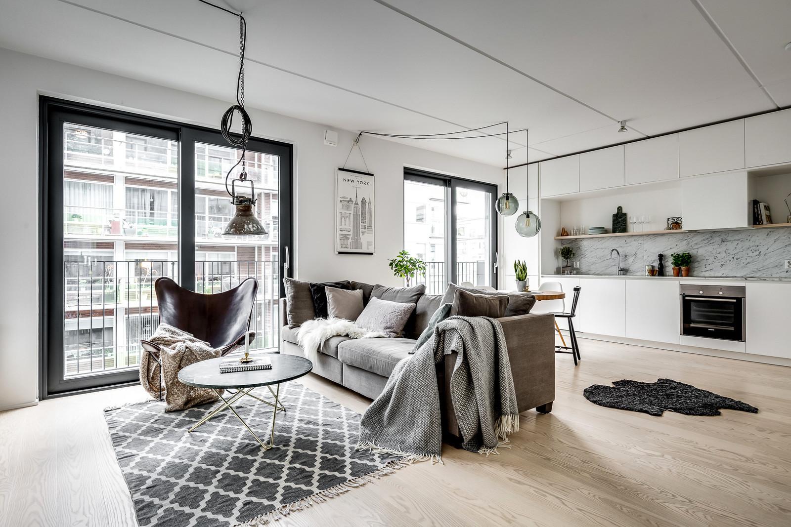 Квартира с собственным лифтом в Стокгольме