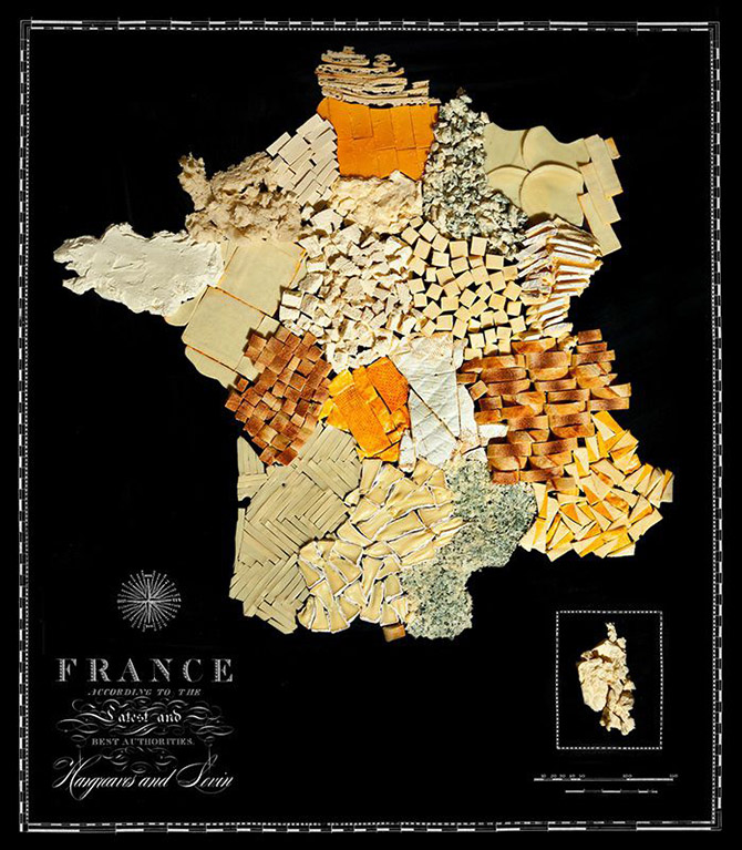 Аппетитные страны на съедобной карте мира