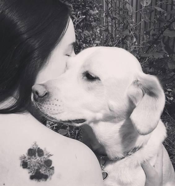 Татуировки с лапой любимой собаки