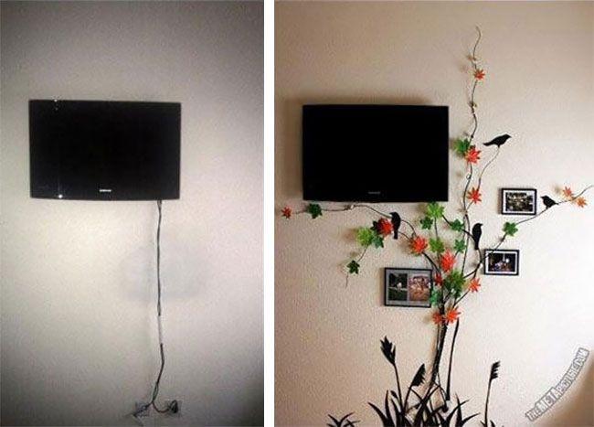Как спрятать дома торчащие провода