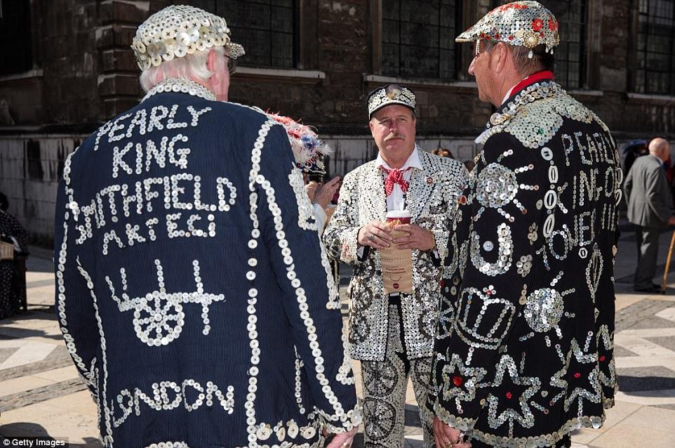 Парад жемчужных королей и королев в Лондоне