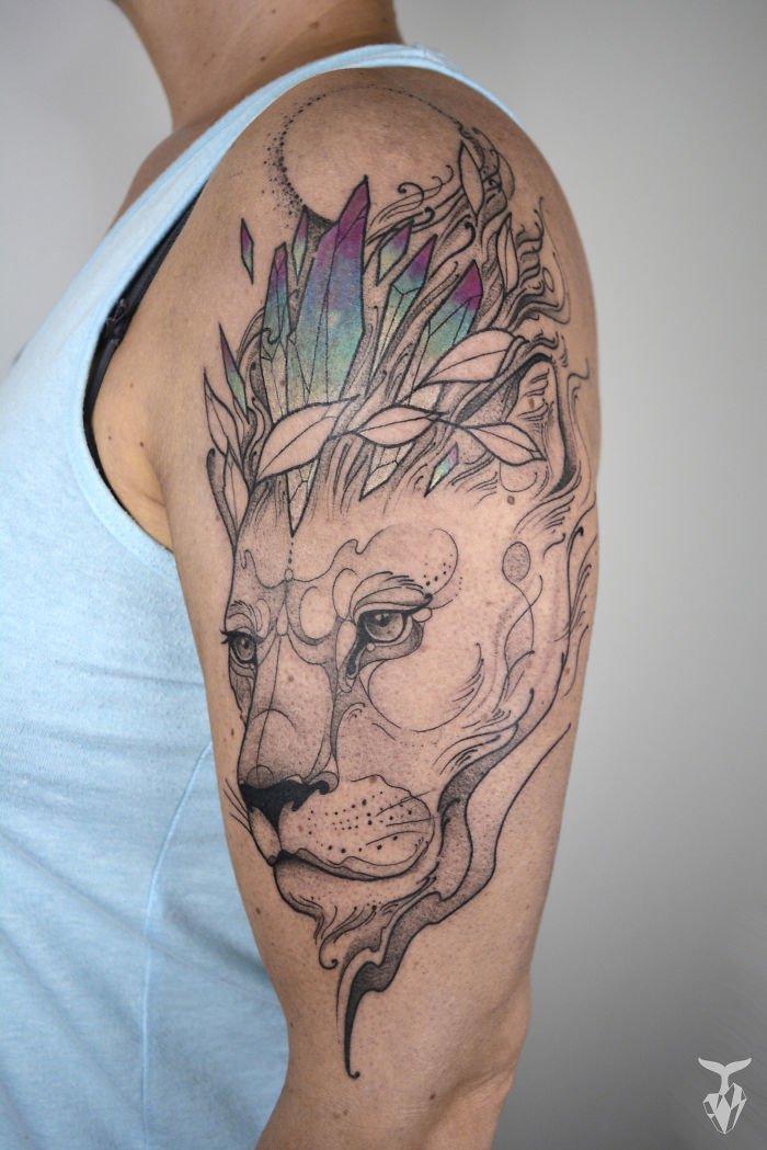 Татуировки, вдохновленные природой и стилем модерн