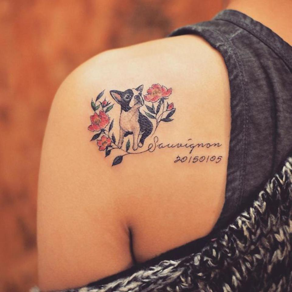 Владельцы собак и татуировки с мордами их любимцев