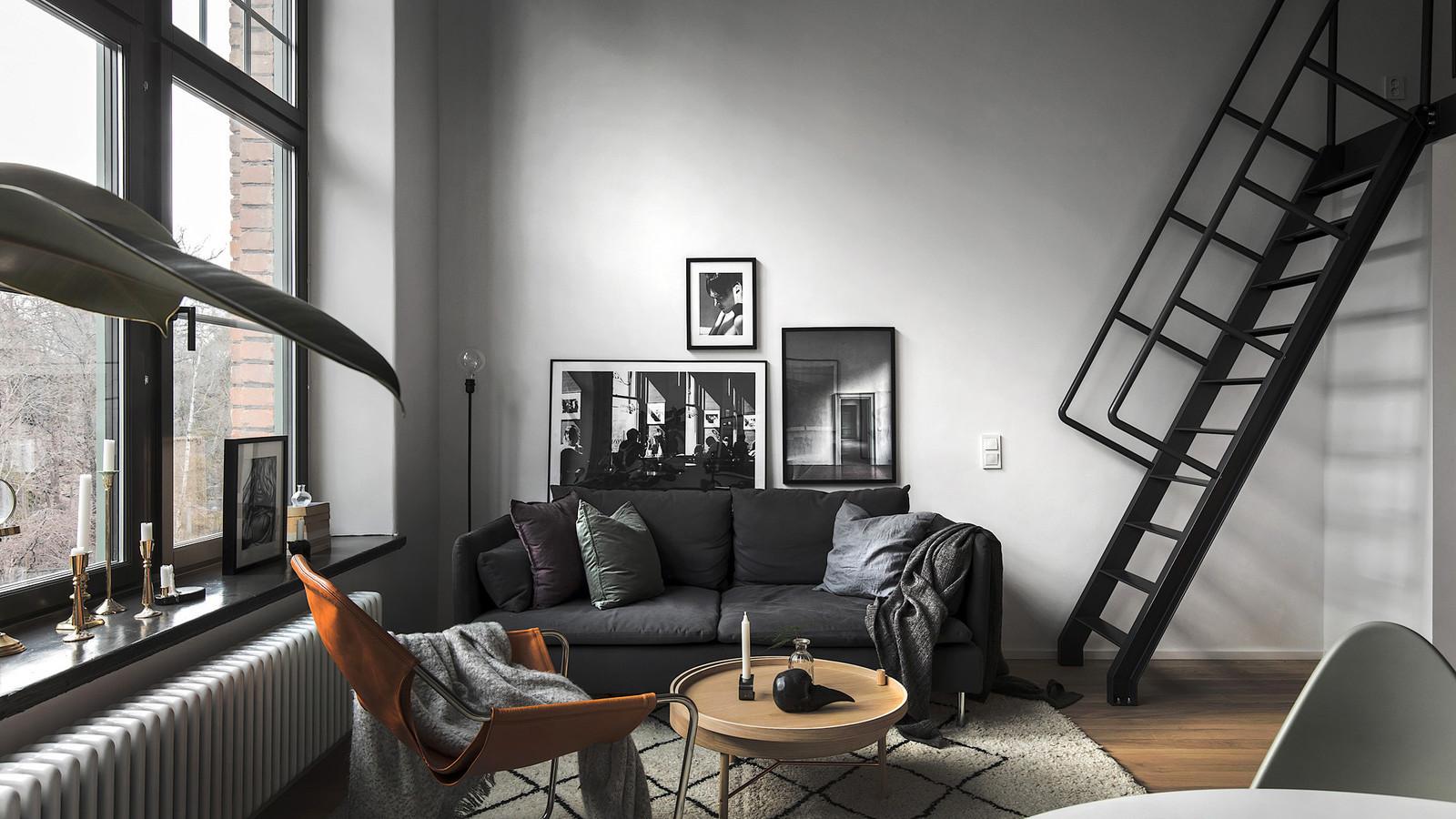 Двухуровневая квартира площадью 40 квадратных метров