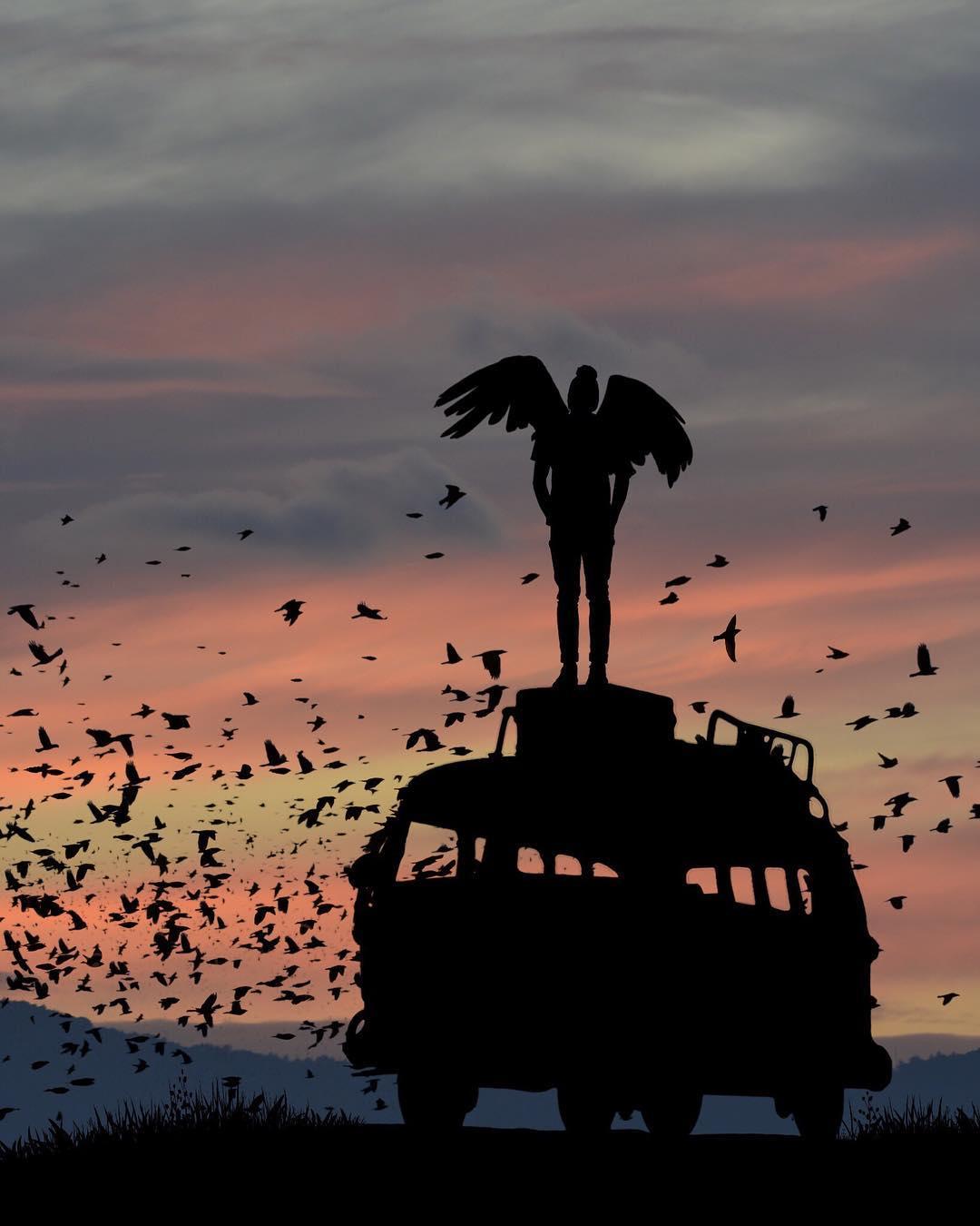 Силуэтные снимки от Доминика Лиама