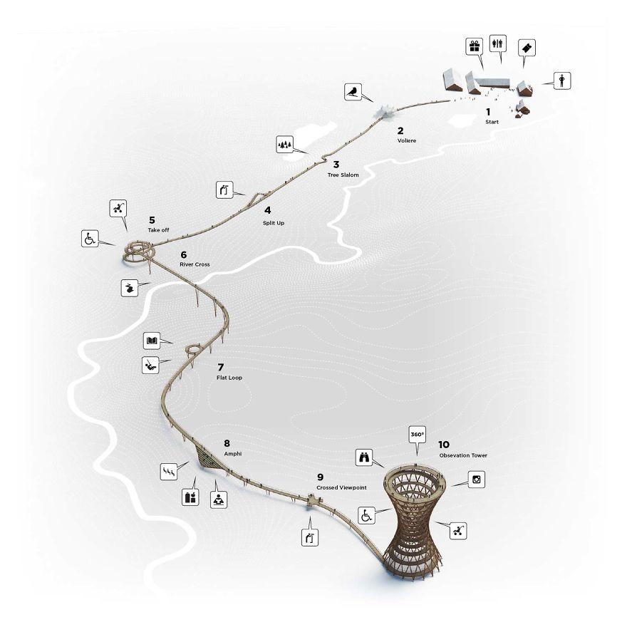 Спиральная башня для пеших прогулок
