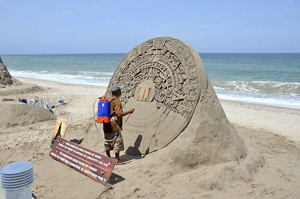 Потрясающие песочные скульптуры