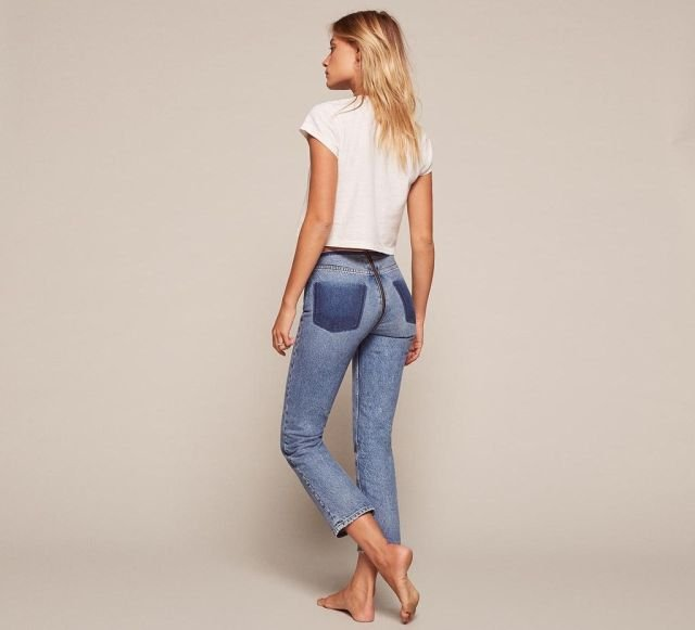 Бюджетные джинсы со сплошной молнией