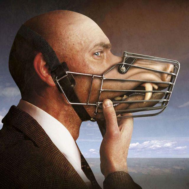 Сюрреалистичные картины о темных сторонах современного общества
