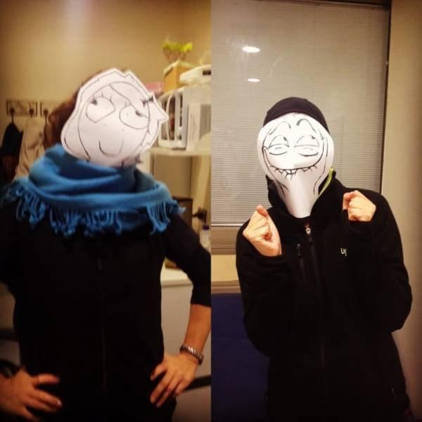 Простые костюмы на Хэллоуин для тех, кто забыл подготовиться