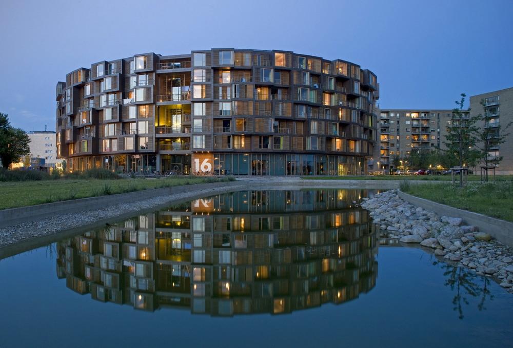 Современное университетское общежитие в Копенгагене