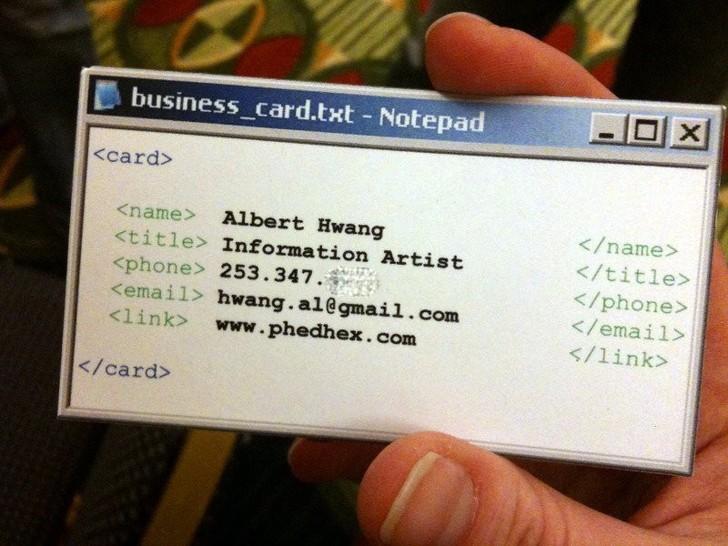 Оригинальные визитки, которые сделали своих владельцев узнаваемыми
