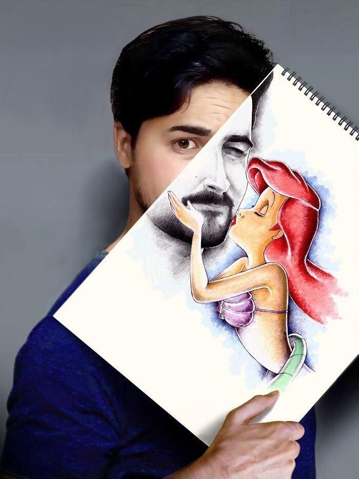 Художник из Ирака оживляет свои рисунки
