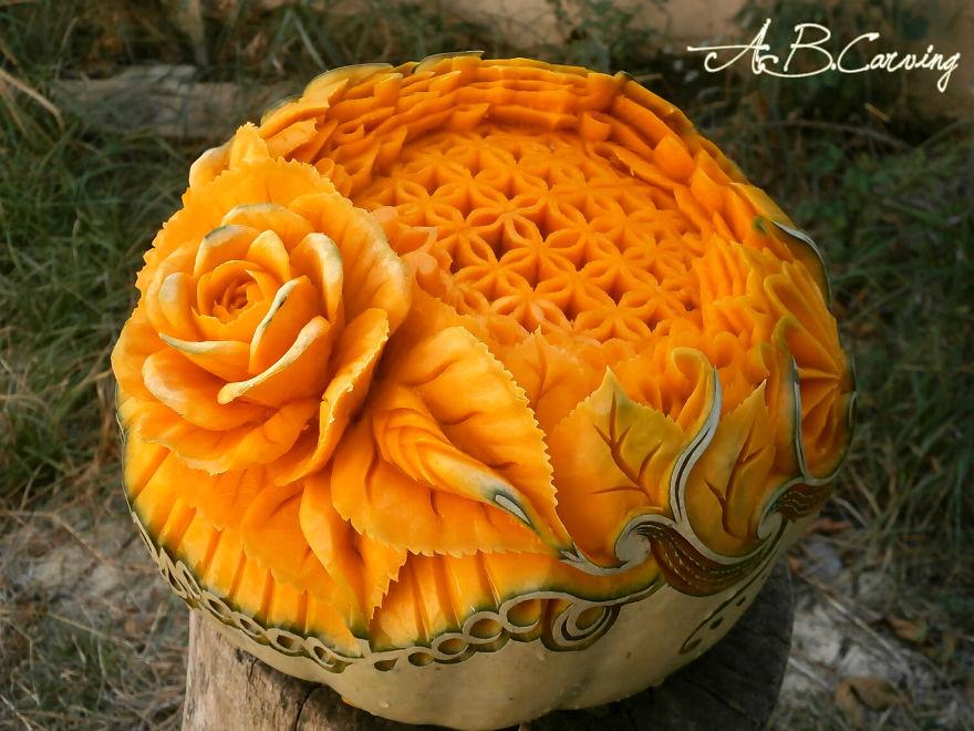 Карвинг по хэллоуинской тыкве
