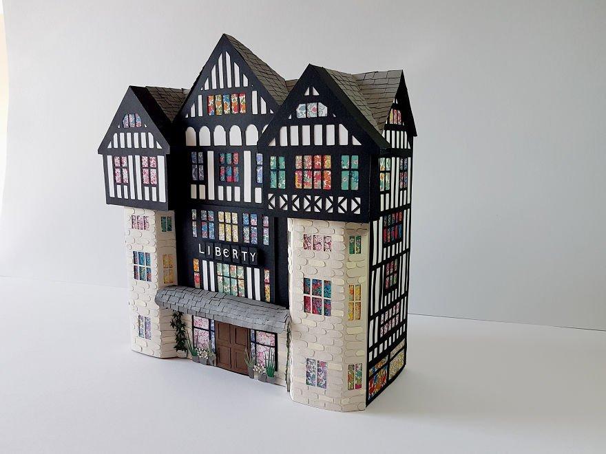 Бумажные копии достопримечательностей Лондона