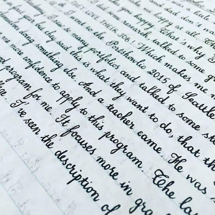 Почерки настоящих перфекционистов