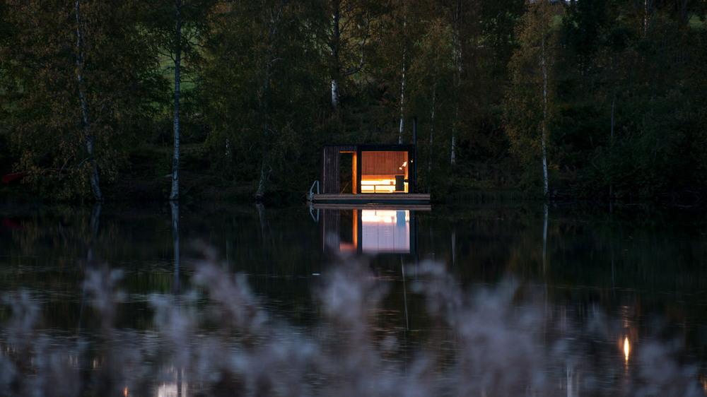 Сауна на воде в Швеции