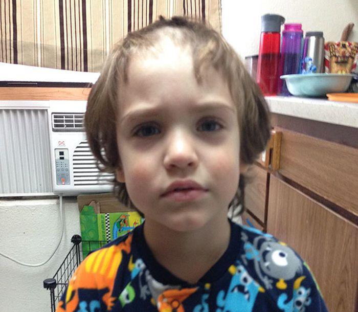 Детки решили подстричься сами