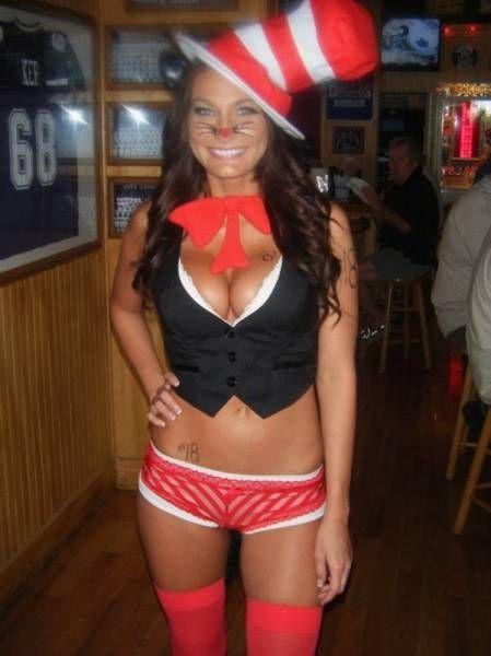 Красивые девушки в костюмах на Хэллоуин