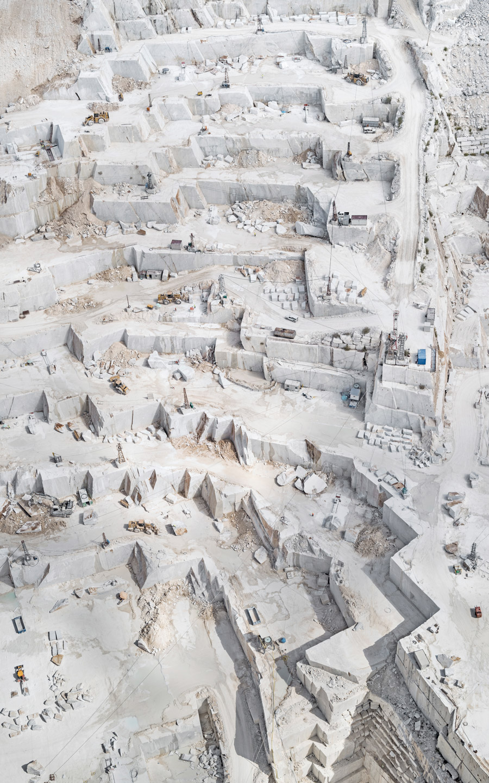 Добыча Каррарского мрамора с высоты от Бернхарда Ланга