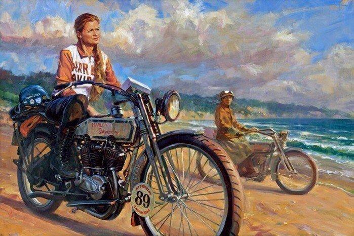 Дэвид Уль — официальный художник Harley-Davidson