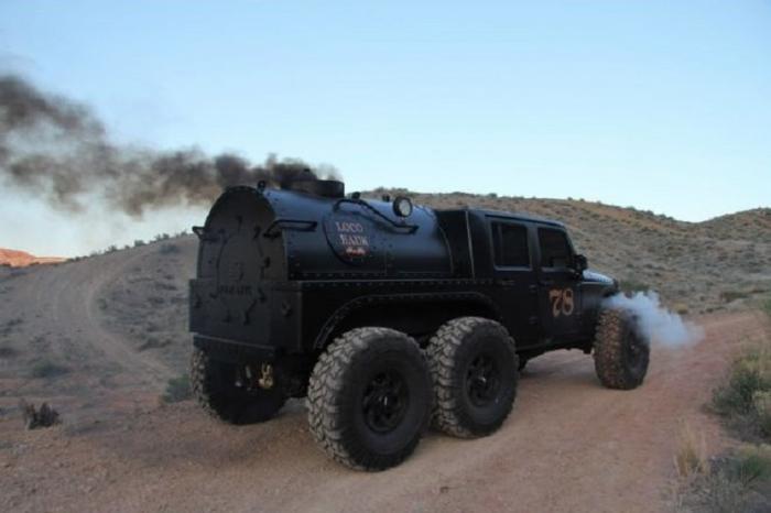 Паровоз Jeep Wrangler