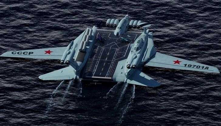 Ударный экраноплан-ракетоносец из СССР
