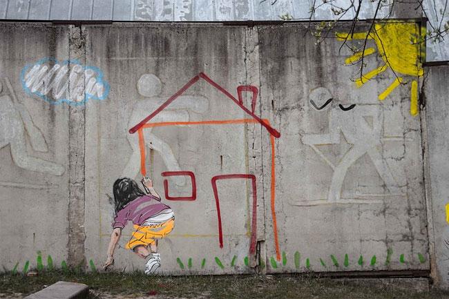 Уличные рисунки Эрнеста Захаревича