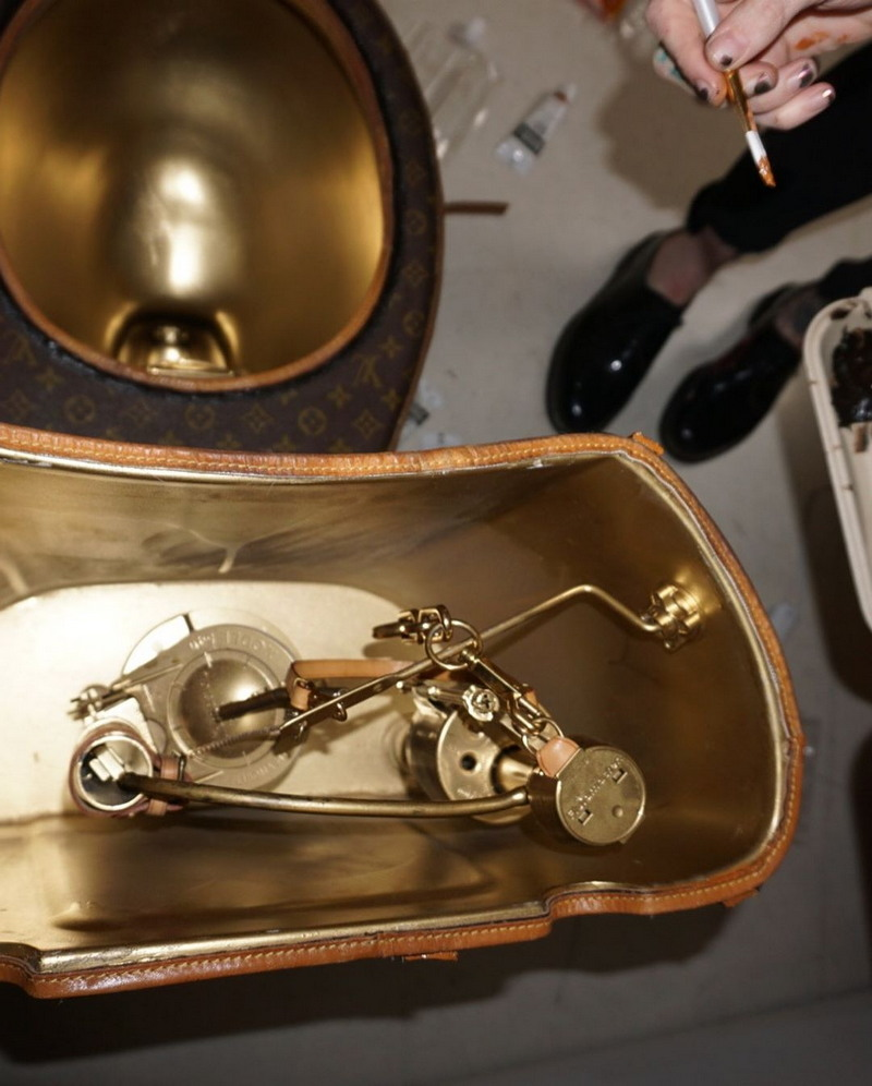 Унитаз из сумок Louis Vuitton