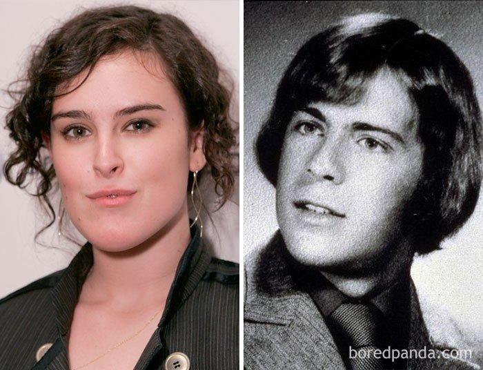 Знаменитости и их дети в том же возрасте