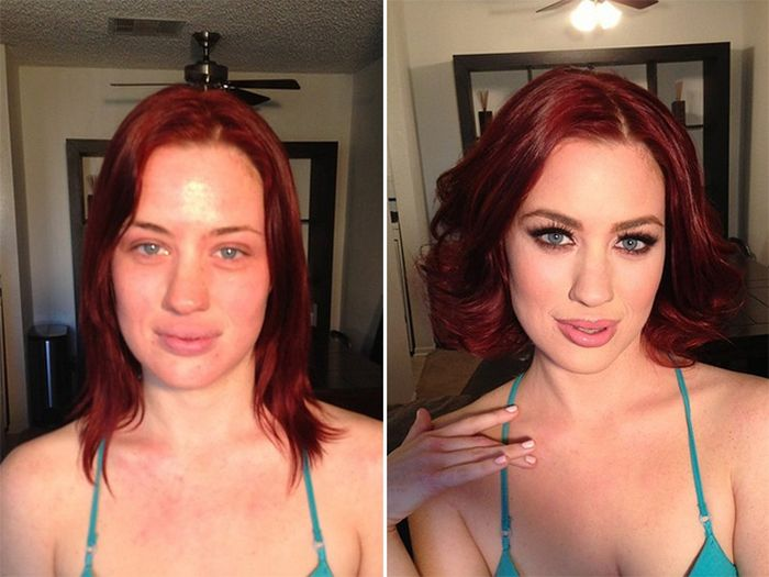 Магия макияжа: до и после